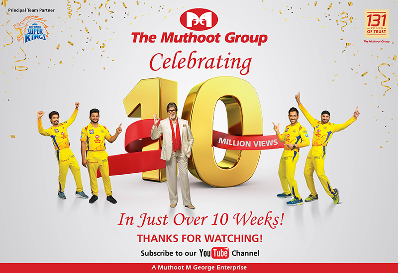 Muthoot Group Celebrating 10 million views