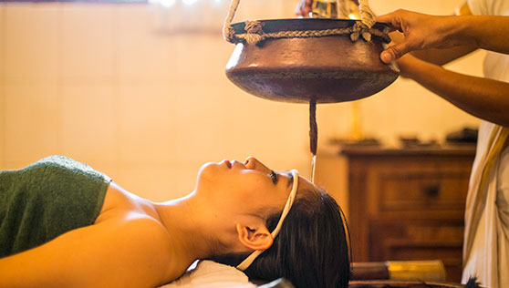Ayurveda treatment spa with trained massuers and traditional therapy