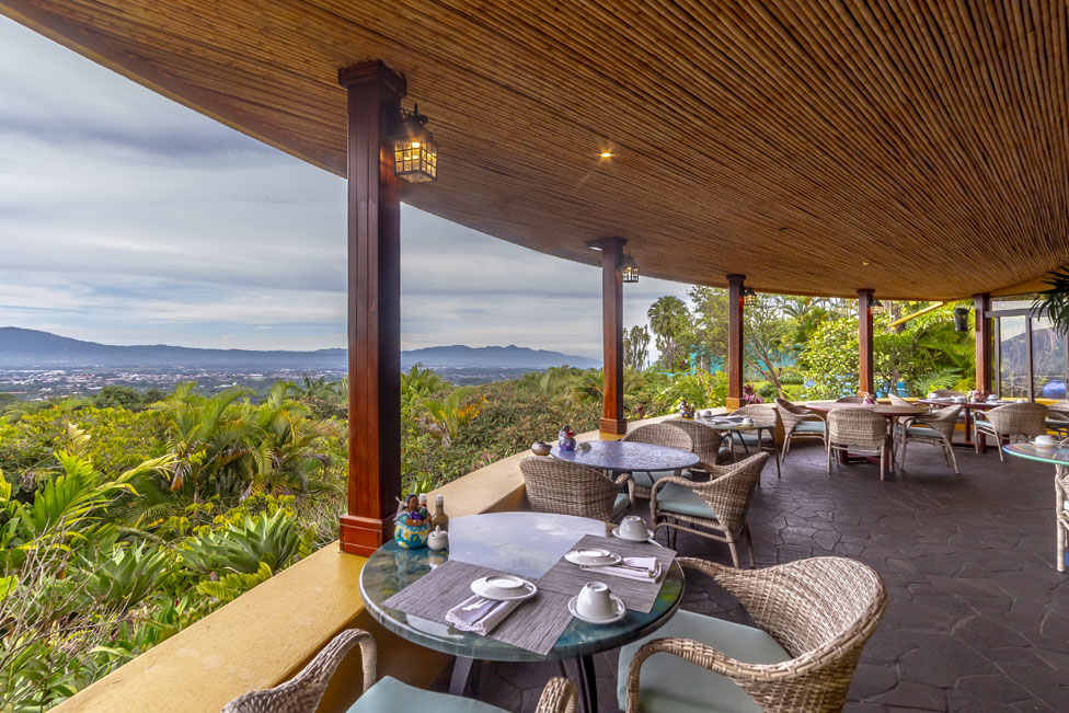 dine with a view at xandari costa rica
