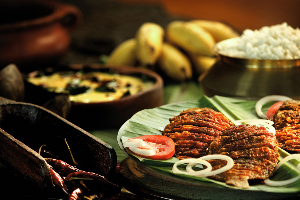 Kerala seafood cuisine cooked onboard by your personal chef;