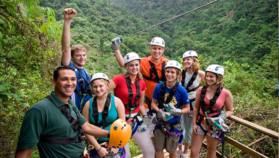 Adventure time and zip lining fun in Costa rica national parks