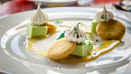 Fine dining cuisine with delicious desserts