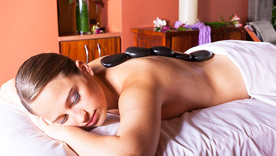 Hot stone therapy at Xandari spa Costa Rica