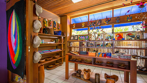 Shop with local handcrafted shops inside Xandari Resort reception Costa Rica