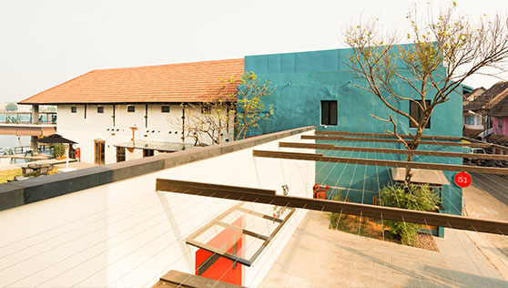 Xandari restored heritage warehouse in the spice market of Fortkochi