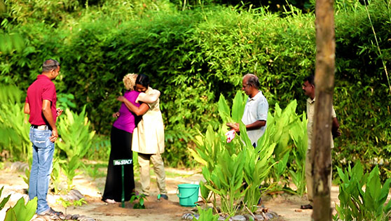 Community farming and tree planting for sustainability at Xandari beach resort Kerala