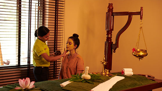 Spa at the beach resort in Marari Kerala India