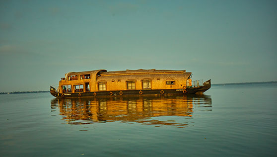 Houseboat on the backwaters Kerala India