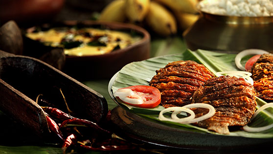 Kerala seafood cuisine cooked onboard by your personal chef