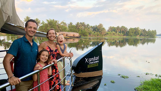 Swedish family at the Xandari Riverscapes