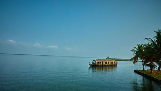 Xandari Riverscapes houseboats in the Alleppey backwaters