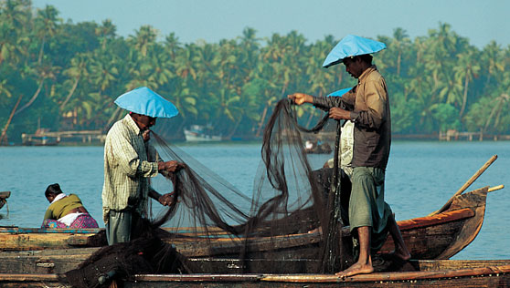 preparing for fishing in backwaters